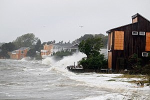 Hurricane Irene Slams Into Long Island